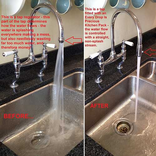 Kitchen Tap Aerator Before and After