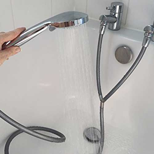 Silver Y Shape Shower Hose