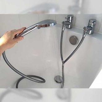 Turn your separate hot and cold taps into a shower