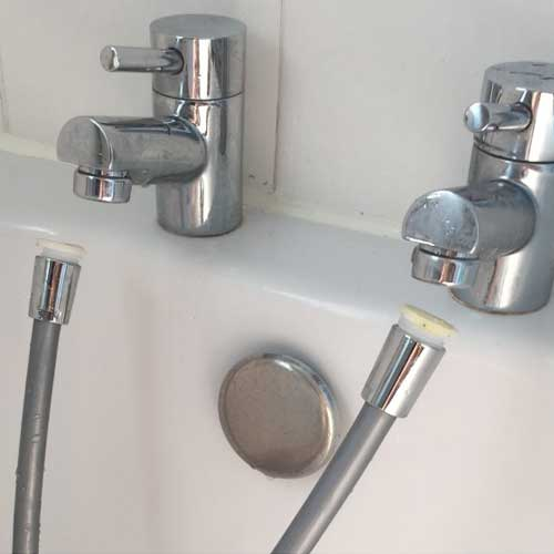 convert taps to shower