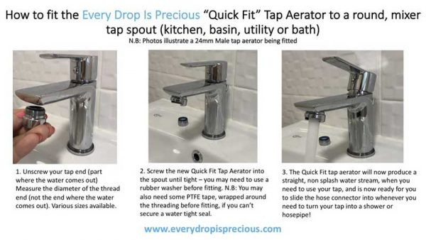 how to fit the quick fit tap aerator onto your basin tap