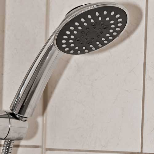 oval twist head 3 spray pattern shower head