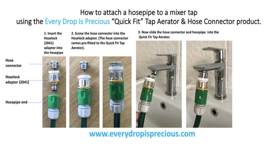 Connect A Hosepipe To Mixer Tap