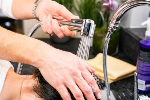 Hair Washing Shower Head with on off thumb lever control by Every Drop Is Precious